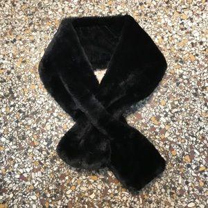 Accessories - Black Faux Fur Scarf Unique Christmas Holiday
